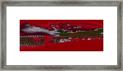 Mission Bay In Red  Framed Print