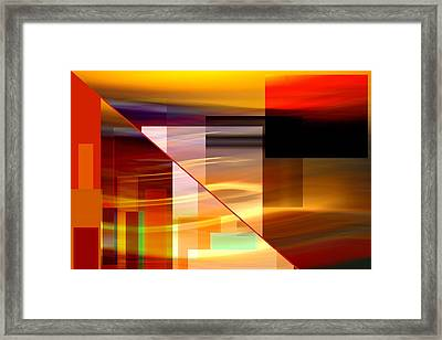 Red Desert Cosmopolis Framed Print