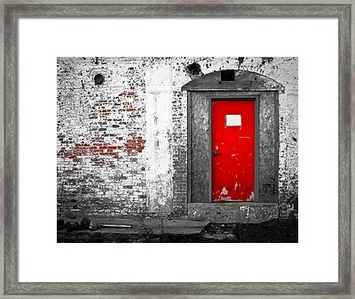 Red Door Perception Framed Print