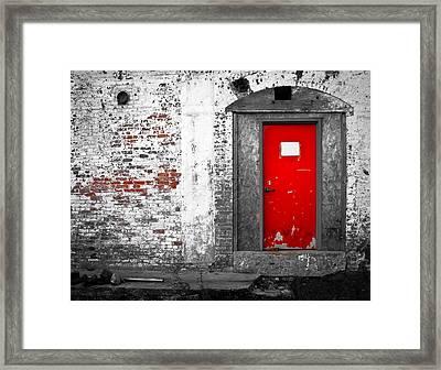 Red Door Perception Framed Print