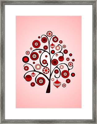 Red Ornaments Framed Print by Anastasiya Malakhova