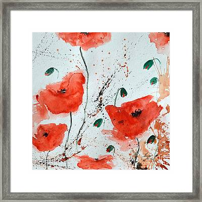 Red Poppies  Framed Print by Ismeta Gruenwald