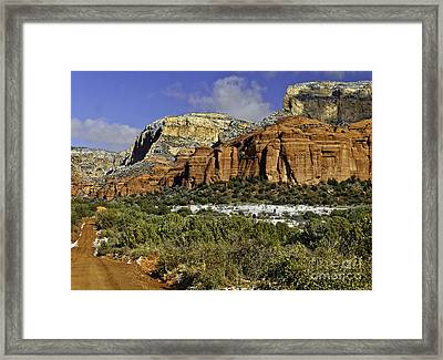 Red Rock-secret Mountain Wilderness Framed Print
