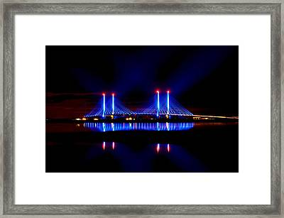 Reflecting Bridge - Indian River Inlet Bridge Framed Print