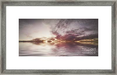 Reflection Of Mauve Skies Framed Print by Holly Martin