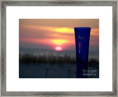 Reflections On Blue Framed Print by Sandra Starling
