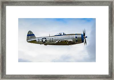 Republic P-47d Thunderbolt Framed Print by Puget  Exposure