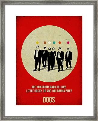 Reservoir Dogs Poster Framed Print by Naxart Studio