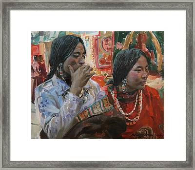 Rich Choice Framed Print by Victoria Kharchenko