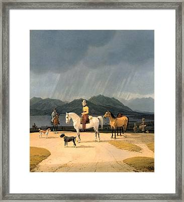 Riders At The Tegernsee Framed Print by Wilhelm von Kobell