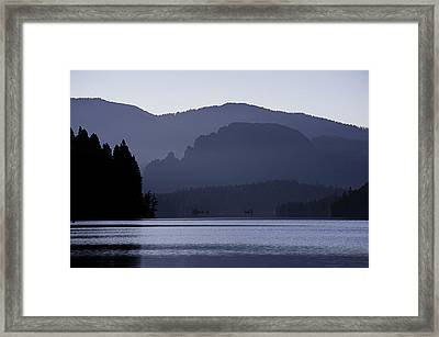 Rimrock Lake Framed Print