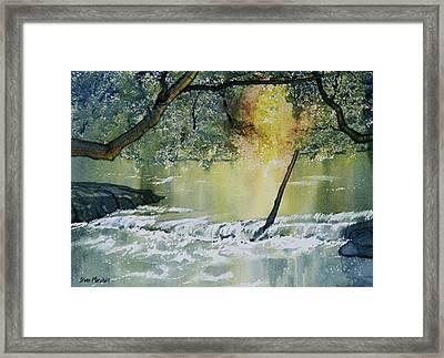 River Esk In Full Flow Framed Print by Glenn Marshall