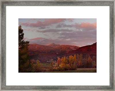 Rocky Peak Autumn Sunset Framed Print