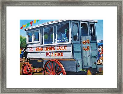 Roman Candy Guy At Jazz Fest Framed Print by Terry J Marks Sr