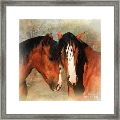 Rosie And Bella Framed Print by Trudi Simmonds