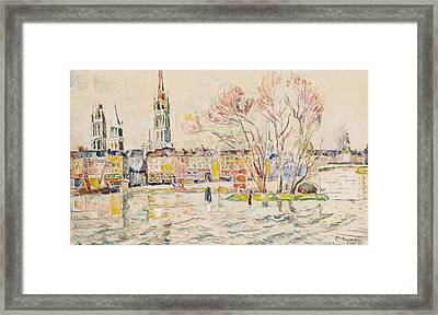 Rouen Framed Print by Paul Signac