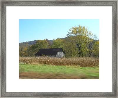 Rural Highway   Framed Print by Dina  Stillwell