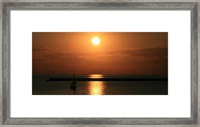 Sailboat A Drift Framed Print