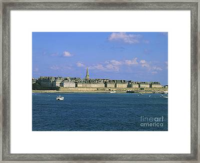 Saint-malo. Brittany. France Framed Print by Bernard Jaubert