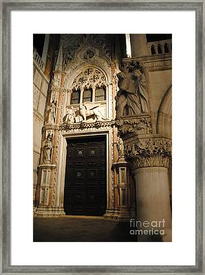 Saint Mark And Lion  Framed Print by Jacqueline M Lewis