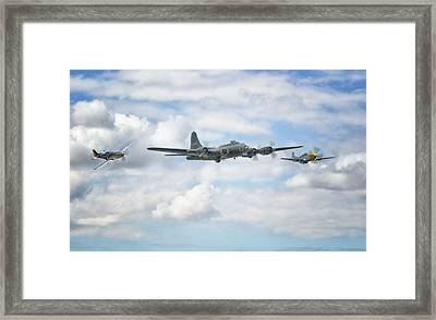Sally B With Her Little Friends Framed Print