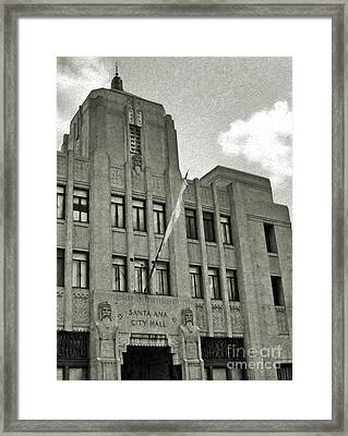 Santa Ana City Hall Building - 02 Framed Print by Gregory Dyer