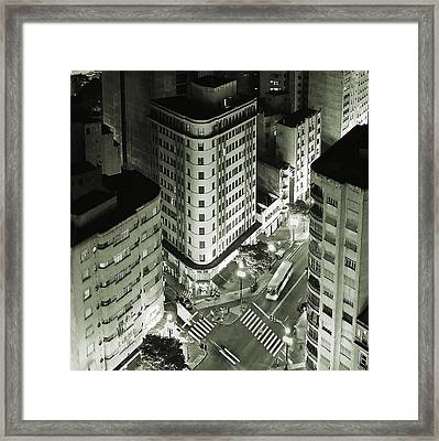 Sao Paulo Downtown From The Top Framed Print