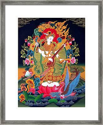 Saraswati 3 Framed Print by Lanjee Chee