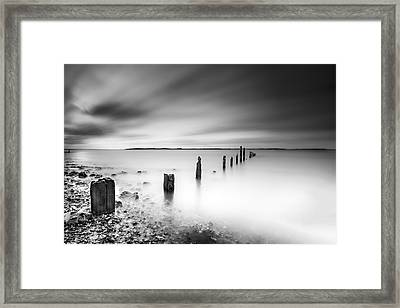 Seasalter In Mono Framed Print by Ian Hufton