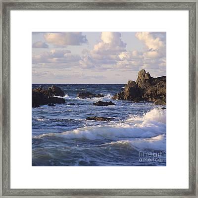 Seascape. Rocks. Normandy. France. Europe Framed Print by Bernard Jaubert