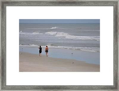 Seaside Framed Print by Karl Davis