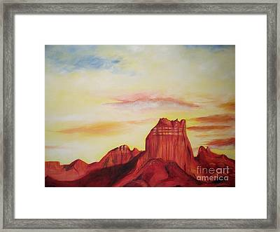Framed Print featuring the painting  Sedona Az by Eric  Schiabor