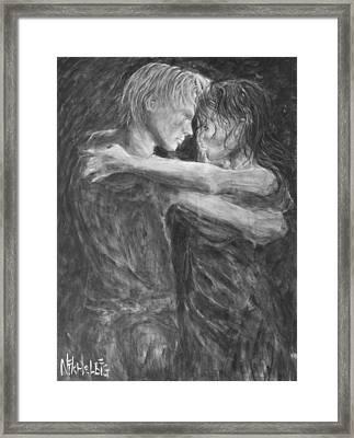 Shades Of Grey - Tango Dancers Framed Print by Nik Helbig