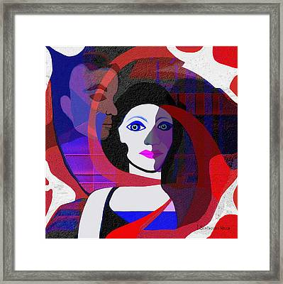 Shadow On My Face - 187 Framed Print by Irmgard Schoendorf Welch