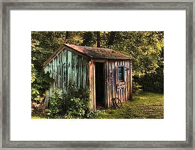 Shed Bristol Rhode Island Framed Print by Tom Prendergast