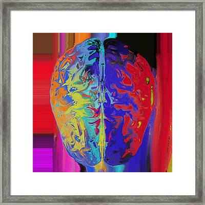 Shiny Brain Framed Print by Soumya Bouchachi