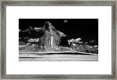 90116 Shiprock East Face Framed Print
