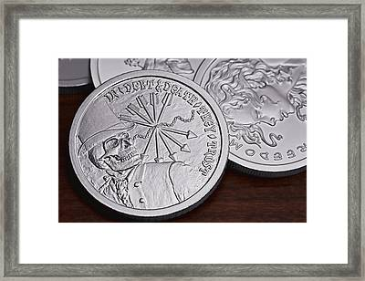 Silver Bullion Debt And Death Framed Print