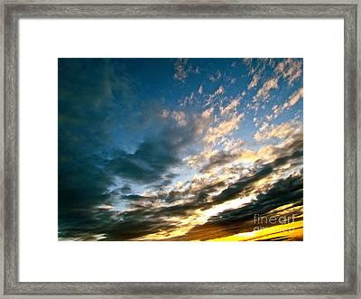 Sky Sings Framed Print by Q's House of Art ArtandFinePhotography