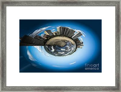 Small World Of Oak Street Beach And Lake Shore Drive In Chicago Framed Print by Linda Matlow