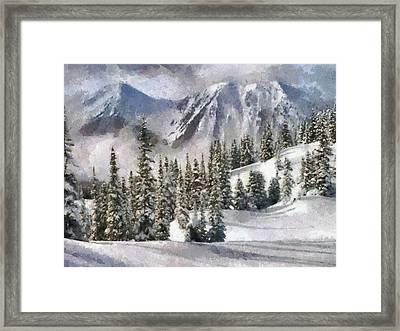 Snow In The Mountains Framed Print by Georgi Dimitrov