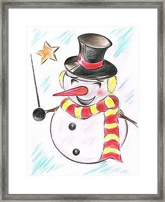 Snowmans  Stardom Framed Print