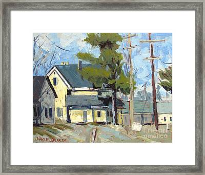 Sold Wabash Indiana Home Framed Print by Charlie Spear