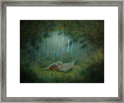 Spiritual  Transition -wings Of Joy Framed Print