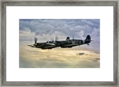 Spitfires Double Trouble Framed Print