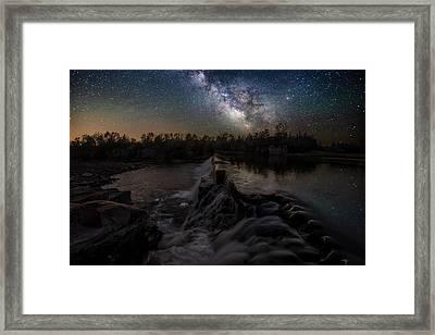 Split Rock Dreamscape Framed Print by Aaron J Groen