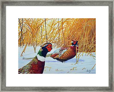 Spring Ever Going To Come Framed Print by Alvin Hepler