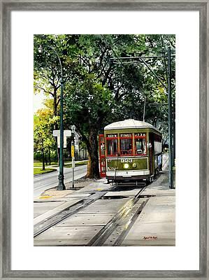 St. Charles Streetcar Framed Print