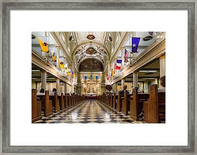 St. Louis Cathedral Framed Print by Steve Harrington