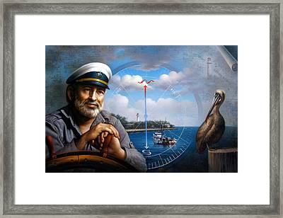 St. Simons Island Sea Captain 5 Framed Print